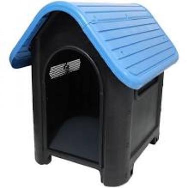 Casa Casinha De Cachorro N.3 Mecpet Média Desmontável Azul