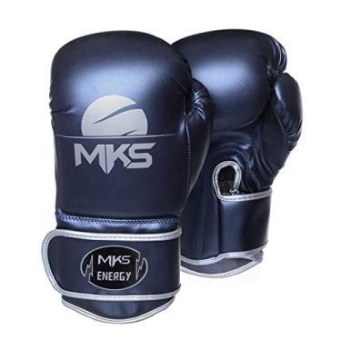Luva de Boxe MKS Energy V2 Metalic Blue (16 oz)