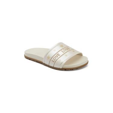Chinelo Infantil Klin Slide 011 Off White/Dourado