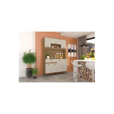 Imagem de Kit Cozinha Compacta 07 Portas Rústico/cristal - B114