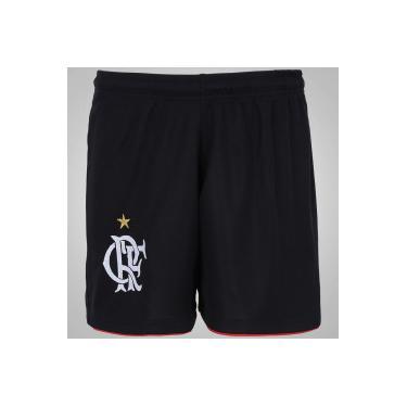 b03bb573fa Calção do Flamengo - Infantil - PRETO Braziline