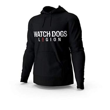 Blusa Moletom Casaco Watch Dogs Legion Unissex Preto