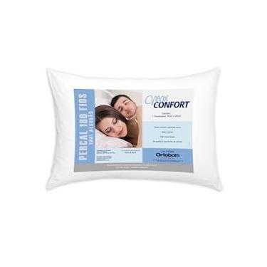 Travesseiro Suave 180 Fios Branco Pena Casa Dona