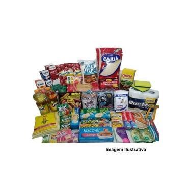 Cesta Básica Completa Alimentos Higiene E Limpeza - 36 itens - Reforçada