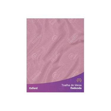 Imagem de Toalha De Mesa Redonda Para Buffet Em Oxford Rosa Envelhecido Rosé