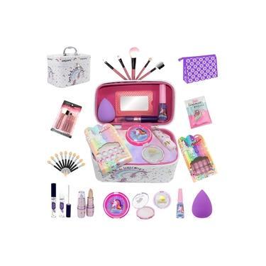 Imagem de Maleta Infantil + Kit maquiagens e itens de beleza BZ41