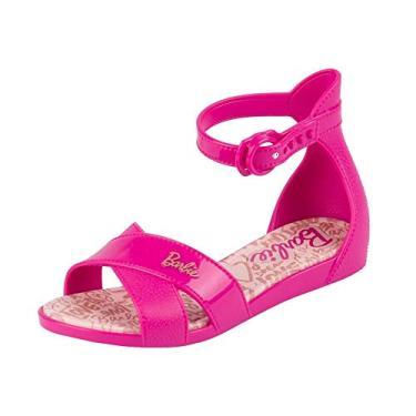 Sandália Infantil Grendene Barbie Confeitaria - Rosa Barbie - 29