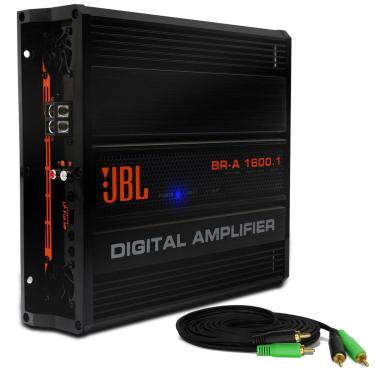 Módulo Amplificador Jbl Selenium Br-A 1600.1 1600W Rms 1 Canal 2 Ohms Classe D + Cabo Rca 4Mm 5M