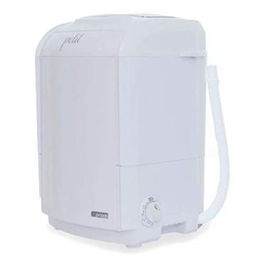 Imagem de Mini Lavadora de Roupas Portátil Tanquinho Petit Branca 220v Até 1,2kg de Roupas Com 5 Modos de Lavagem e Baixo Consumo de Energia e Água
