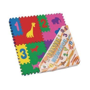 Imagem de Tatame Eva 12 Placas Tapete Didático Aprenda Os Números - Mingone