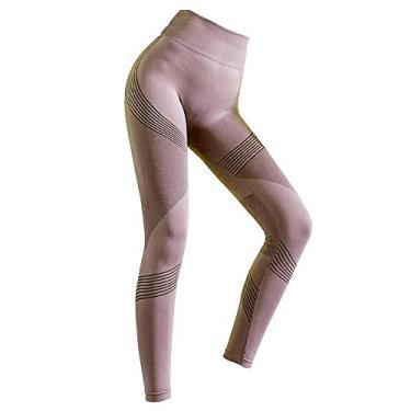 Imagem de amuzer Calça Legging Feminina Modeladora De Suor, Tik Tok Calça De Ioga Feminina Estampada Com Cintura Alta Para Ioga De Malha Para Ginástica, Academia, Ginástica, Capri, Ioga