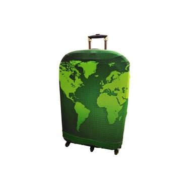 Capa Para Mala Keeky Mapa Mundi Verde Gg