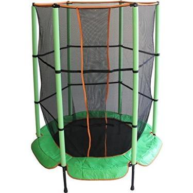 Imagem de Cama Elástica (pula-pula) 1,4m com Rede de Segurança e Proteção