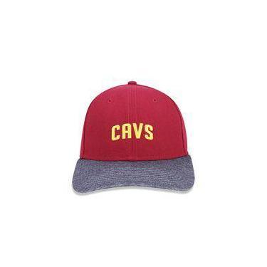 Bone 940 Cleveland Cavaliers Nba Aba Curva Snapback Vinho New Era 8e0eb5409cf