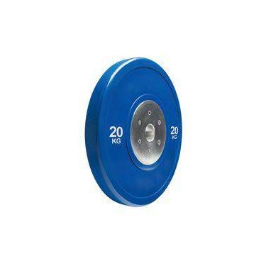 Anilha Olímpica Bumper Plate para musculação 20kg Wct Fitness 10100420