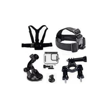 Kit P Gopro Hero 9 Black Caixa Estanque Ventosa Guidao Peito