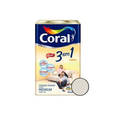 Tinta Acrílica Premium 3 Em 1 Fosco Branco Gelo 18 Litros - Coral