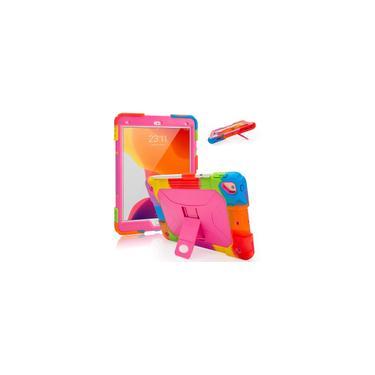 Imagem de IPad Air 2 Case iPad 6/5º Casos iPad 9.7 Capa de caixa silicone iPad Caso Corpo Completo à prova de choque com suporte de suporte e lápis para crianças (arco-íris/rosa)