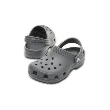 Sandália Infantil Crocs Classic Clog K - Cinza