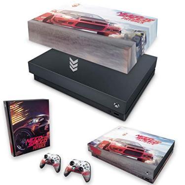 Capa Anti Poeira e Skin para Xbox One X - Need For Speed Payback