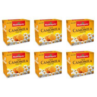 Chá de Camomila e Mel Madrugada 6 Un x 10 Saches x 1g