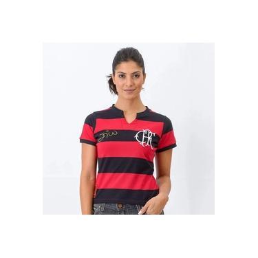 Camisa Flamengo Flatri Zico Feminina