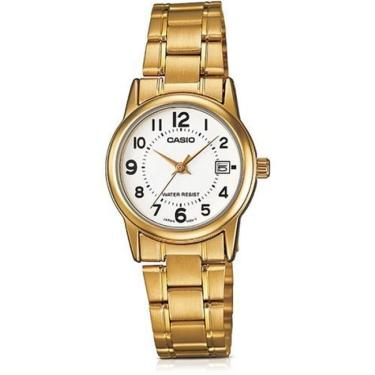 432909bcd55 Relogio Feminino Casio Collection - Ltp-v002g-7budf - Dourado