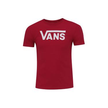 456040a544 Camiseta Vans Flying V Crew - Feminina - VINHO Vans