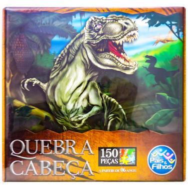 Imagem de Quebra Cabeça Dinossauro 150 Peças - Pais e Filhos