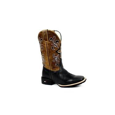 Bota Mr West Boots Texana Fossil Preto
