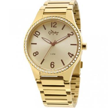 dbbf315cda Relógio Feminino Condor Analógico COPC21AK 4X - Dourado