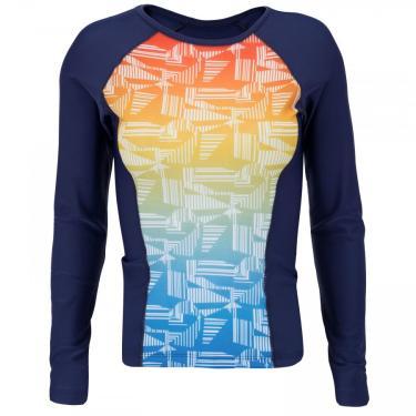 Camiseta Manga Longa com Proteção Solar UV Fila Shape II - Feminina Fila Masculino