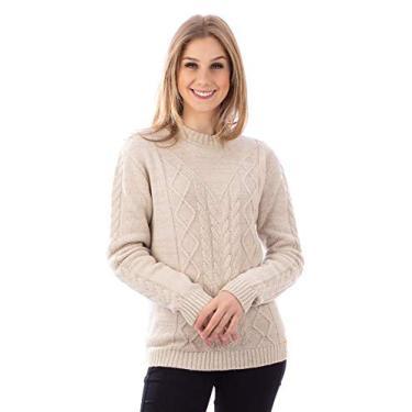 Blusa de tricô feminina Sumaré 31185 - Cru - G