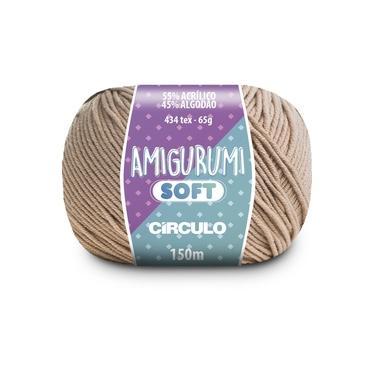 Linha Amigurumi Soft 150m 65g Amendoim 7062 Círculo