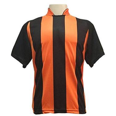 Imagem de Jogo de Camisa com 18 unidades modelo Milan Preto/Laranja +