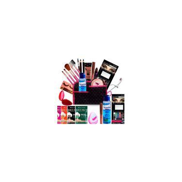 Imagem de Kit Maquiagem Pincel Completo Bella Femme 23 Itens - Pele Clara