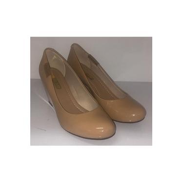 Sapato Fem. Moleca Anabela Verniz Nude- 5270.725.13488