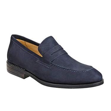 Sapato Casual Masculino Loafer Sandro Moscoloni Trajano Azul (46)