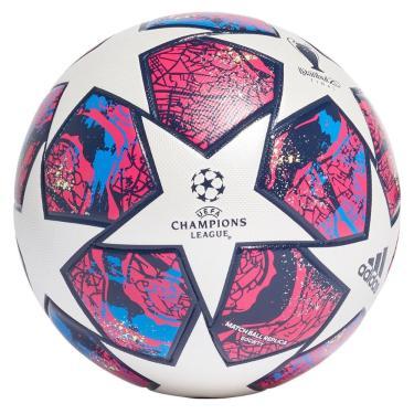 Bola Futebol Society Adidas UEFA Champions League Istanbul 20 FM2406, Cor: Branco/Rosa, Tamanho: 5