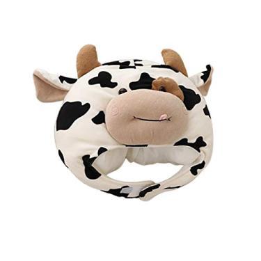 Imagem de Esquirla Chapéu de vaca engraçado, festa de aniversário, tema de animal fofo, fantasia de cosplay