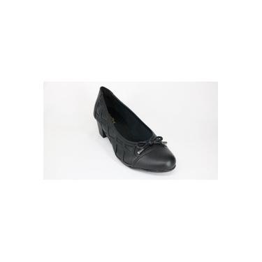 Sapato Ana Flex Laço Salto Médio Preto