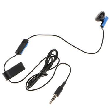 Homyl Fone De Ouvido Com Fio Para PS4 Controller Controle De Volume De Fone De Ouvido único Com Microfone 1.2m