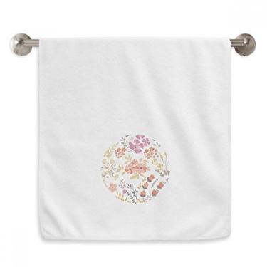 Imagem de DIYthinker Toalha de mão com tinta de flor branca laranja toalha de mão toalha de rosto de algodão macio