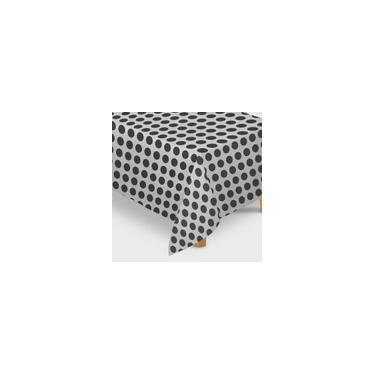 Imagem de Toalha de Mesa tnt Poá Branco e Preto 1,40m x 2,20m - 01 unidade