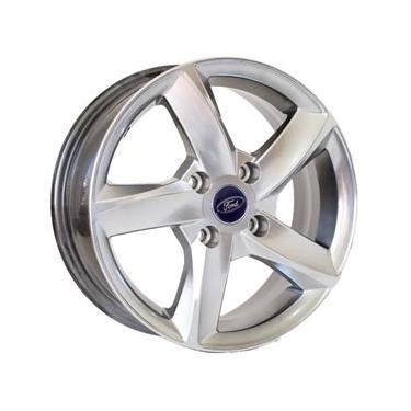 Jogo de Rodas Ford New Fiesta Aro 14 x 6,0 4x108 ET39 K40 Prata Diamantado
