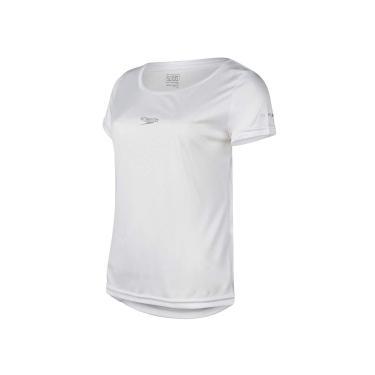 Speedo Camiseta Interlock Fem. Uv50 Mulheres P Branco