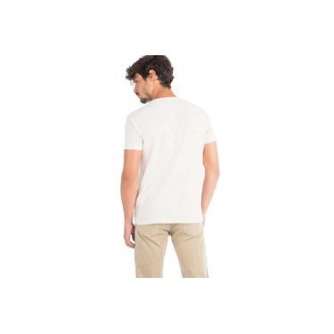 T-Shirt Básica Mescla Botonê Cru