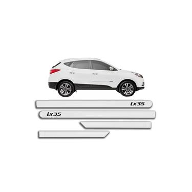 Jogo Friso Lateral Hyundai Ix35 Branco Pérola