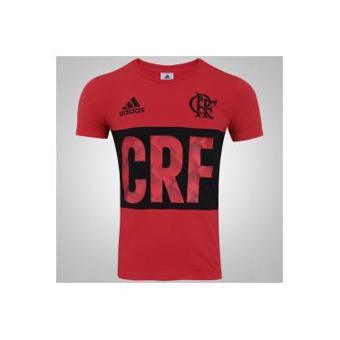 Camiseta do Flamengo adidas Gráfica - Masculina - Vermelho Preto adidas 3c8374a11f6d0