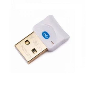 Adaptador USB Bluetooth 4.0 CSR Dongle Para PC e Notebook - Branco
